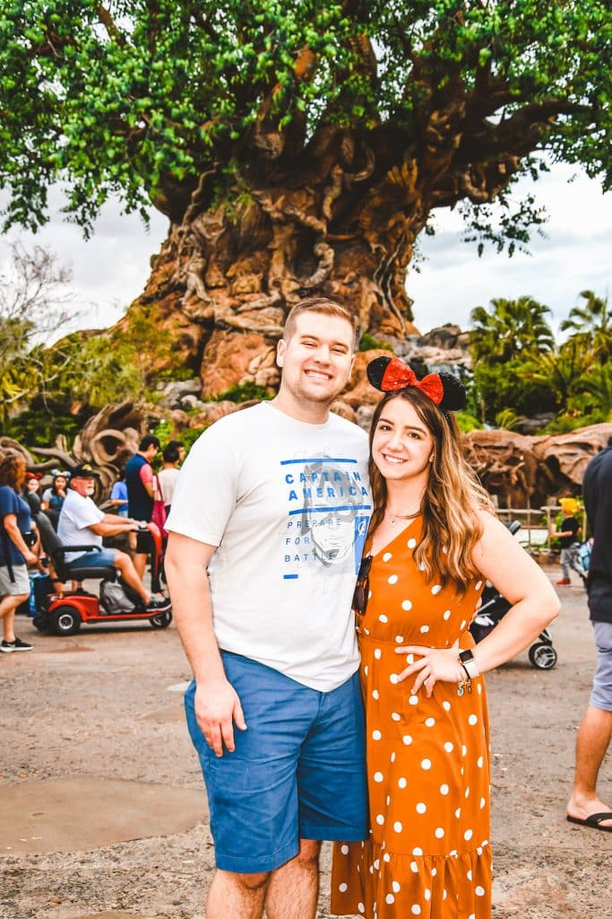Megan and Mitchell in front of the Tree of Life at Animal Kingdom Park | Walt Disney World, FL