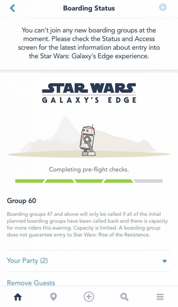 Rise of the Resistance Boarding Group Boarding Pass at Disney's Hollywood Studios | Galaxy's Edge, Walt Disney World, FL