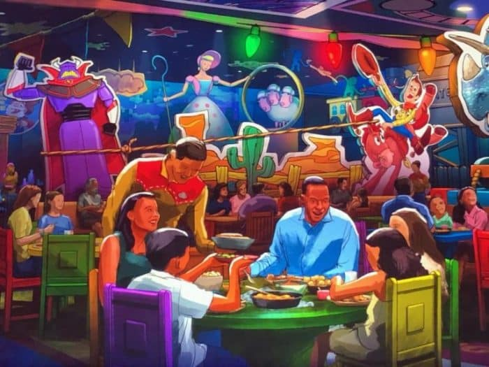 Rodeo Roundup BBQ Concept Art | The first Toy Story themed table service restaurant at Walt Disney World