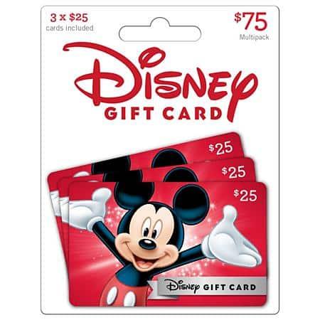 $75 Disney Gift Card Pack