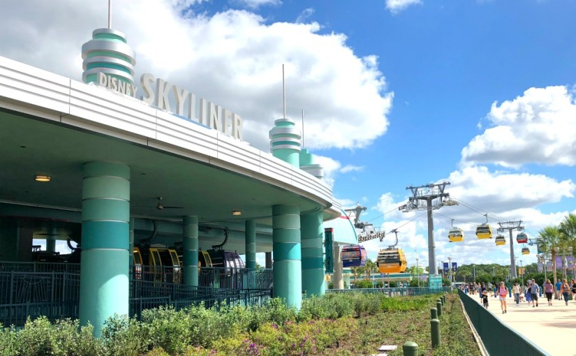 Disney Skyliner Hollywood Studios Station | This route runs to and from Caribbean Beach Resort