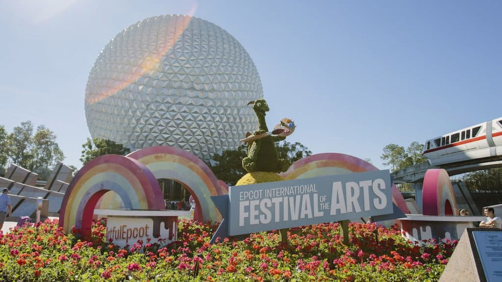 2020 Epcot International Festival of the Arts at the front of the park