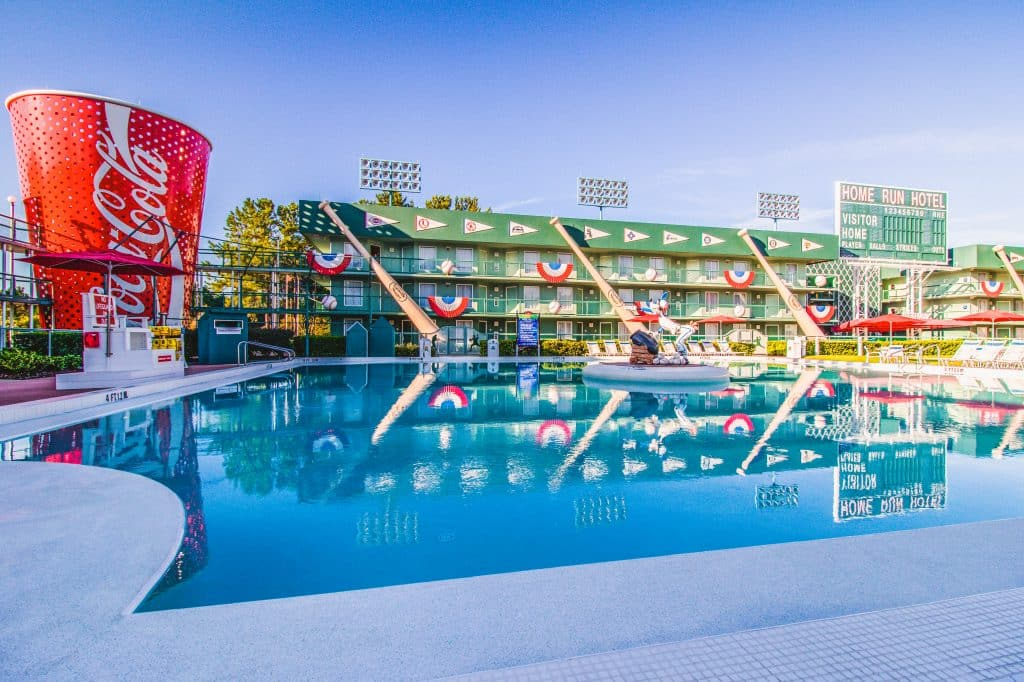 Grand Slam Pool is located in the Home Run Hotel area at All Star Sports Resort