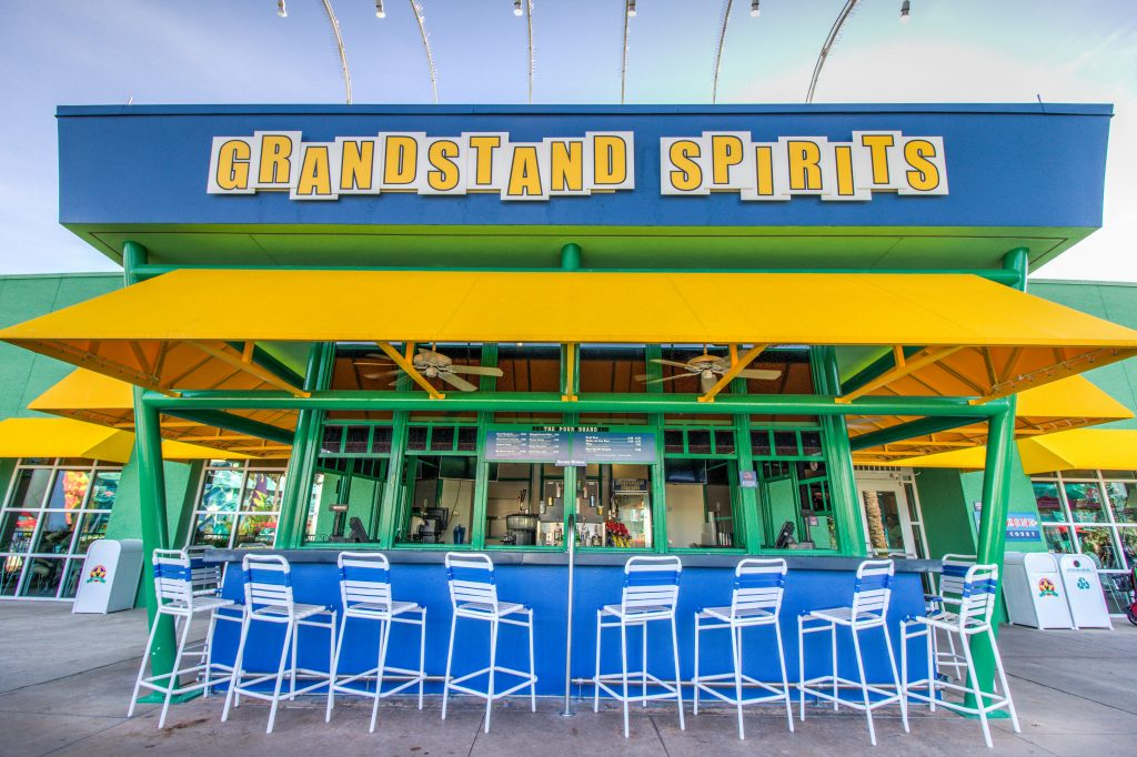 Grandstand Spirits pool bar is located inside Stadium Hall at the All Star Sports Resort