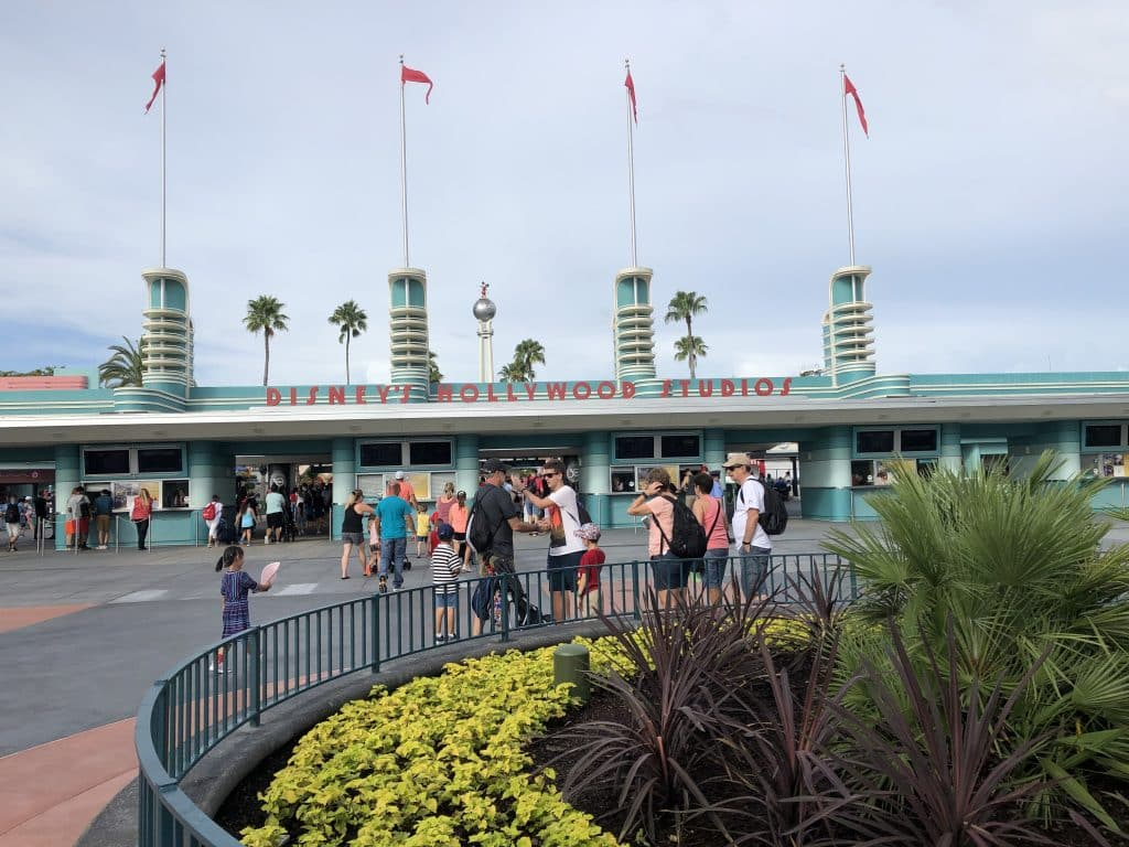 The Security Checkpoint at Disney's Hollywood Studios. The park opens daily at 9:00 A.M. | Walt Disney World, FL
