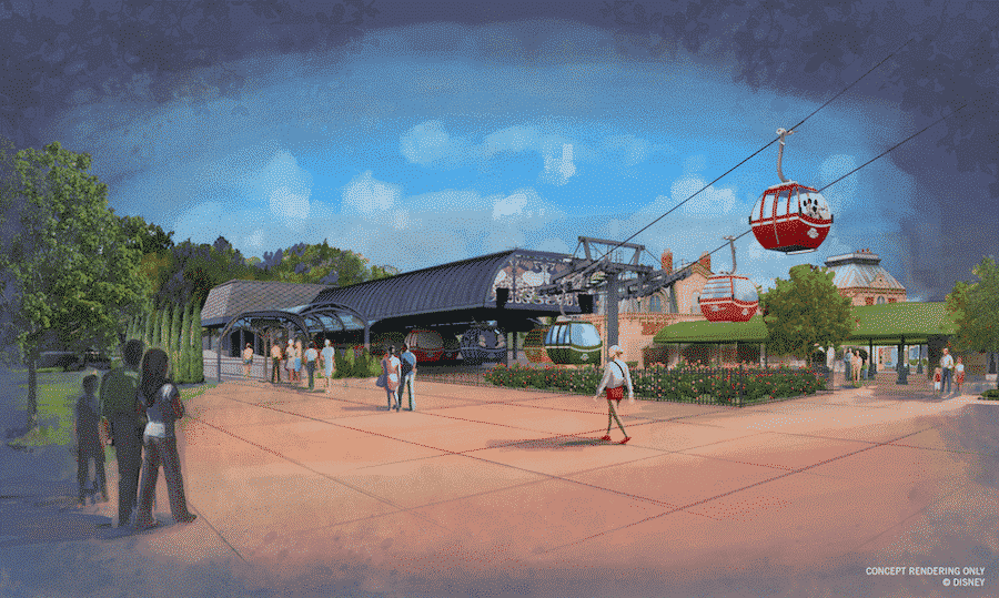 Disney Skyliner Epcot Station Concept Art