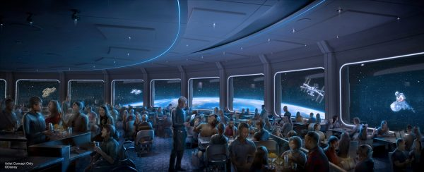 Space 220 Restaurant Concept Art | World Discovery, Epcot