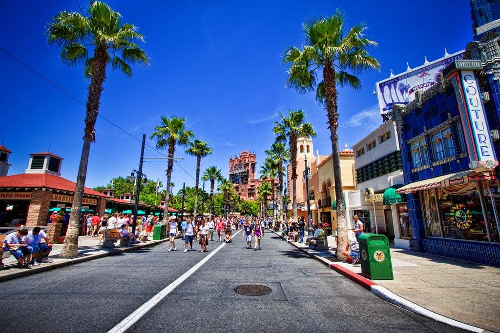 Sunset Boulevard at Hollywood Studios facing Tower of Terror | Walt Disney World, FL