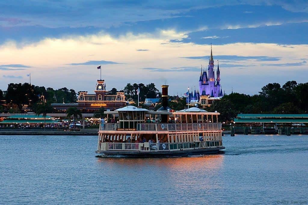 Walt Disney World Ferry Boat going from the Magic Kingdom Park to the Ticket and Transportation Center