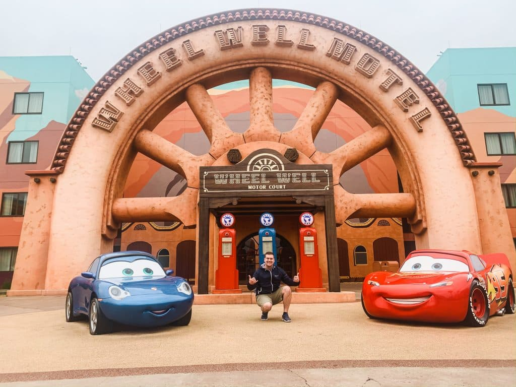 Mitchell Tomczak at Disney's Art of Animation Resort in the Cars themed area
