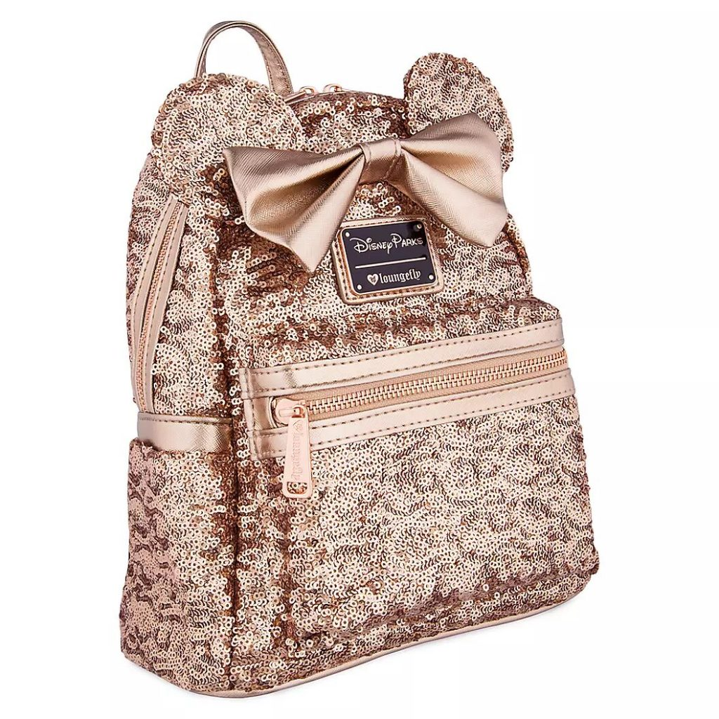Minnie Mouse Sequined Mini Backpack by Loungefly – Rose Gold