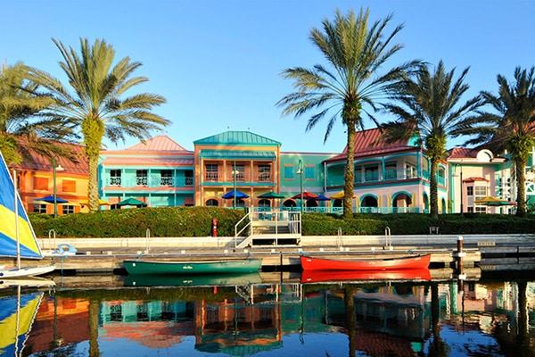 Disney's Caribbean Beach Resort on the Disney Skyliner Route