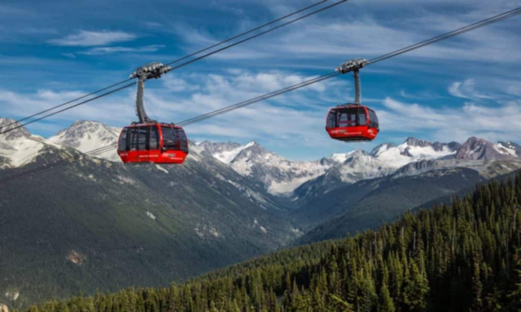 Peak 2 Peak Gondola System at Whistler-Blackcomb mountains