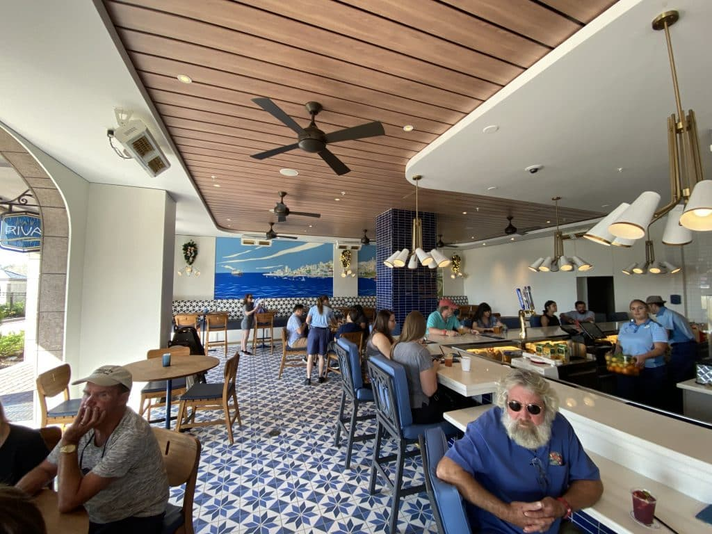 Bar Riva at Disney's Riviera Resort, the newest hotel at Walt Disney World on the Disney Skyliner