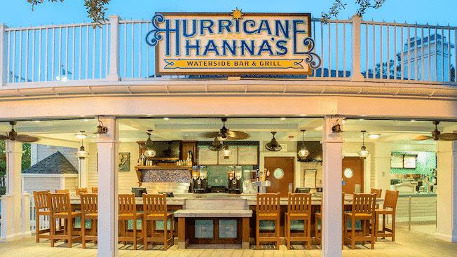 Hurricane Hanna's Pool Bar at Disney's Beach Club Resort, a short walk from the Disney Skyliner