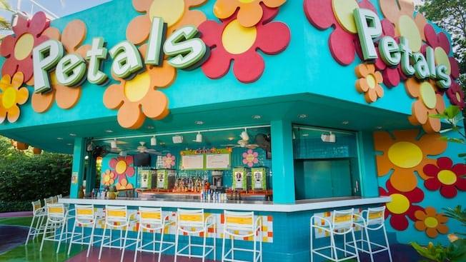 Petals Pool Bar at Disney's Pop Century Resort, one of two value resorts on the Disney Skyliner