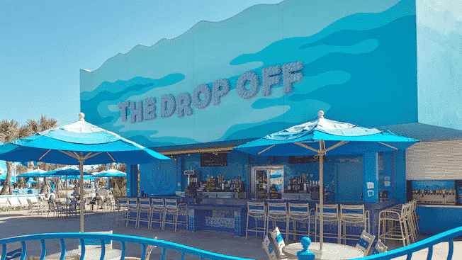 The Drop Off Pool Bar at Disney's Art of Animation Resort, one of two value resorts on the Disney Skyliner
